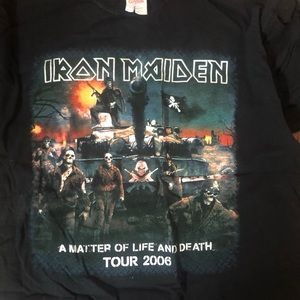 IRON MAIDEN TOUR SHIRT , men's L